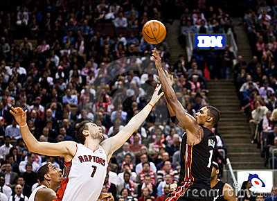 Miami Heat vs. Toronto Raptors Editorial Stock Image