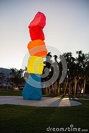 Free Miami Mountain In Miami Beach Stock Images - 106700464