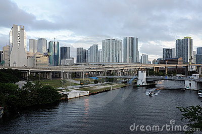 Miami River, Florida Editorial Stock Image