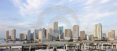 Miami Skyline Editorial Image