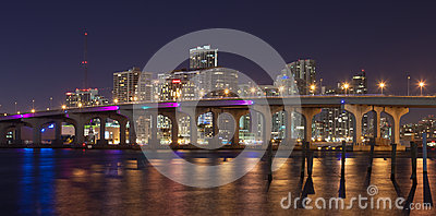 Miami Skyline Editorial Stock Image