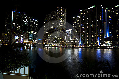 Miami Skyline Night