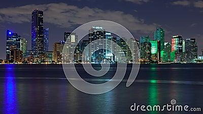 Miami Skyscrapers at Night