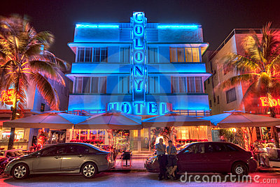 Miami South Beach Hotel Editorial Stock Image