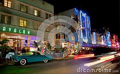 Miami south beach nightlife Editorial Stock Photo