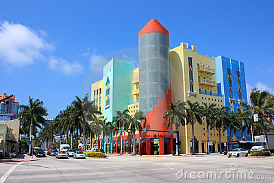Miami South Beach stores Editorial Photography