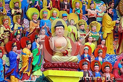Mianyang, China: Sheng Shui Buddha Tableaux
