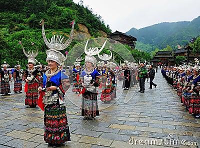 Miao festival Editorial Stock Image