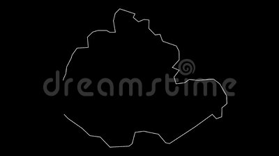 Miaoli Taiwan county map outline animation stock footage