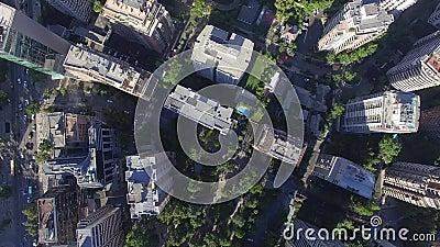 Miasto budynki od wierzchołka zbiory