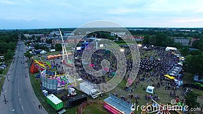 Miasto dzień Elbląski, Polska zdjęcie wideo