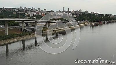 Miasto scena Belgrade, Serbia - zbiory wideo