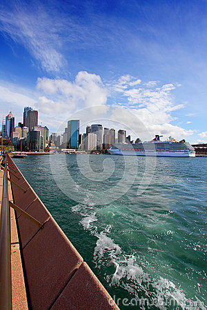 Miasto Sydney Kółkowy Quay, schronienie i skały, Obraz Editorial