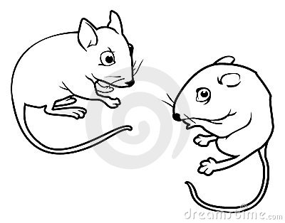Mice outlines