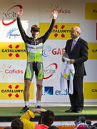 Michael Albasini wins the Volta a Catalunya Editorial Stock Image