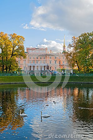 Free Michael Castle Or Engineers Castle In Saint Petersburg, Russia And Karpiev Pond In Summer Garden Royalty Free Stock Images - 113486919