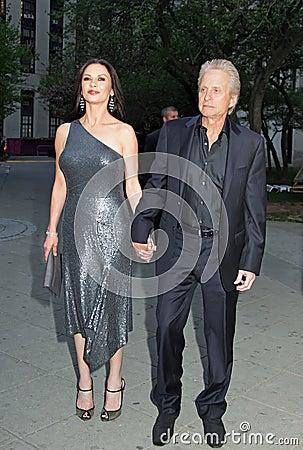 Michael Douglas and Catherine Zeta-Jones Editorial Image