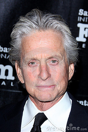 Michael Douglas, Kirk Douglas Editorial Stock Photo