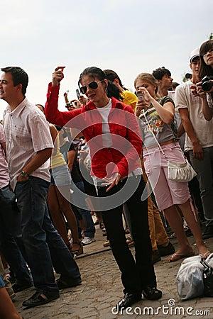 Michael Jackson dance tribute, Romania Editorial Photo