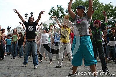 Michael Jackson dance tribute, Romania Editorial Image