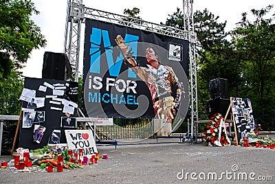 Michael Jackson Memorial Editorial Stock Image