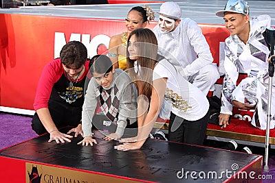 Michael Jackson, Paris Jackson, Prince, Prince Michael Jackson, Prince Michael Jackson II, Blanket Jackson Editorial Photography