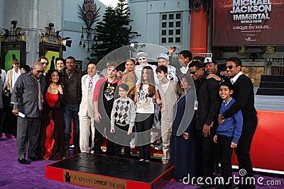 Michael Jackson, Paris Jackson, Prince, Prince Michael Jackson, Prince Michael Jackson II, Blanket Jackson Editorial Stock Photo