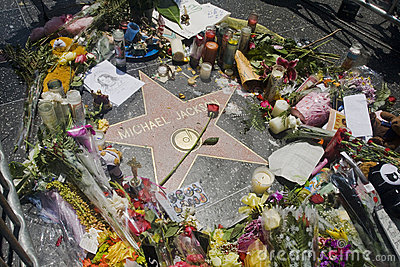 Michael Jackson s Star Editorial Stock Image