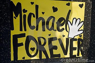 Michael Jackson s Star Editorial Stock Photo