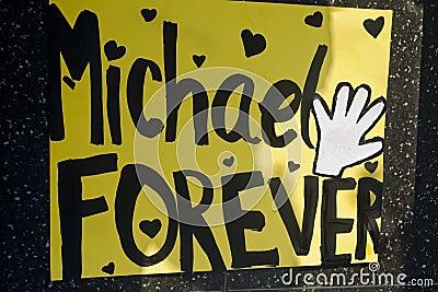 Michael Jackson s Star Editorial Stock Photo