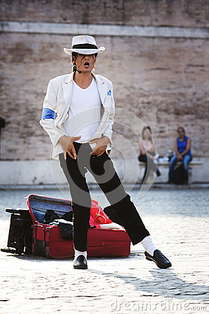 Free Michael Jackson Smooth Criminal Performer Royalty Free Stock Photography - 45252407