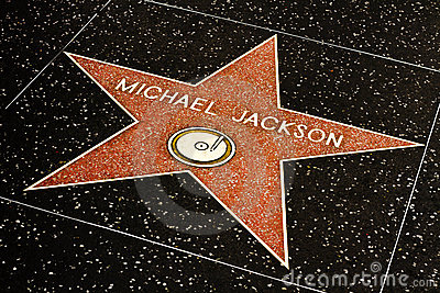 Michael Jackson Star on the Hollywood Walk Editorial Photo