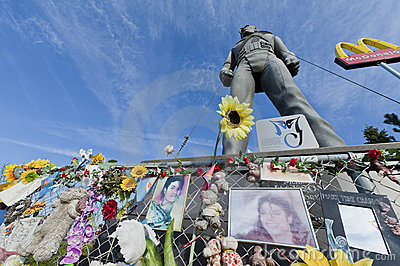 Michael Jackson statue in Best, Netherlands Editorial Stock Image