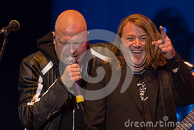 Michael Kiske and Kai Hansen (Unisonic) Editorial Stock Image