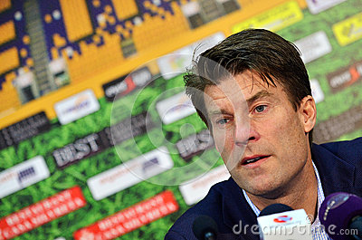 Michael Laudrup in Petrolul Ploiesti-Swansea FC Editorial Photography