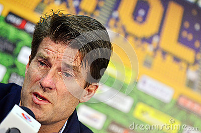 Michael Laudrup in Petrolul Ploiesti-Swansea FC Editorial Stock Photo