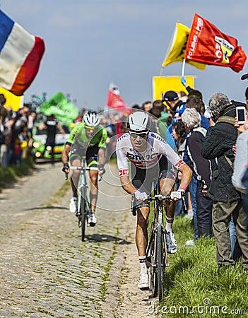 Michael Schär- Paris Roubaix 2014 Editorial Stock Photo