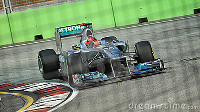 Michael Schumacher at 2011 Singapore F1 Editorial Stock Image