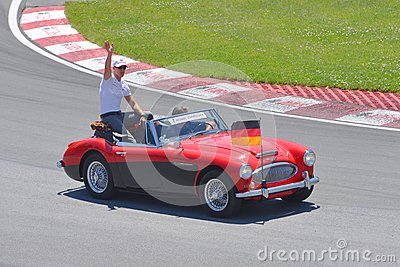 Michael Schumacher in 2012 F1 Canadian Grand Prix Editorial Image