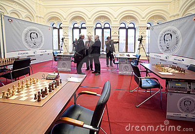 Michael Talja s fifth chess memorial starts Editorial Stock Photo