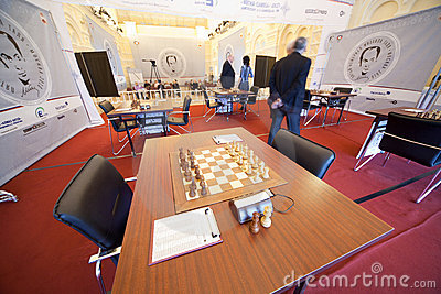 Michael Talja s fifth chess memorial starts Editorial Stock Image