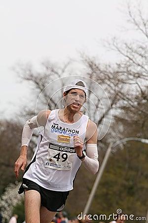 Michael  Wardian races up Heartbreak Hill Editorial Photo