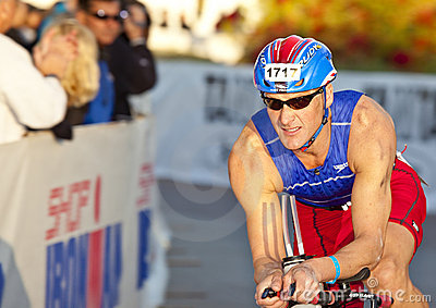Michael Wendt Racing in the Arizona Ironman Triath Editorial Image