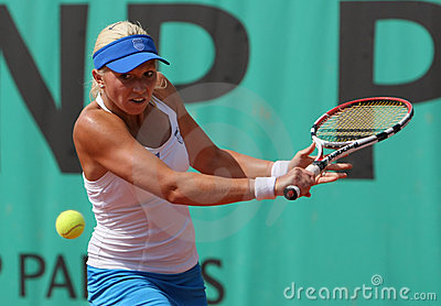 Michaella KRAJICEK (NED) at Roland Garros 2010 Editorial Image