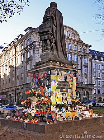 Micheal Jackson spontaneous memorial in Munich, De Editorial Photo