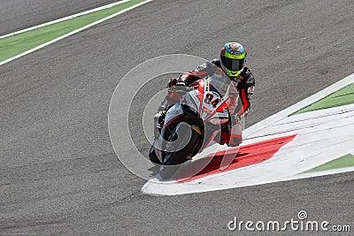 Michel Fabrizio #84 on Aprilia RSV4 1000 Factory Red Devils Roma Superbike WSBK Editorial Stock Image