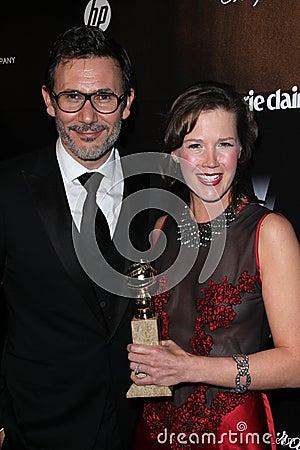 Michel Hazanavicius, Adria Tennor Editorial Image