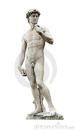 Michelangelo s David cutout