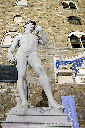 Michelangelo s David statue Editorial Image