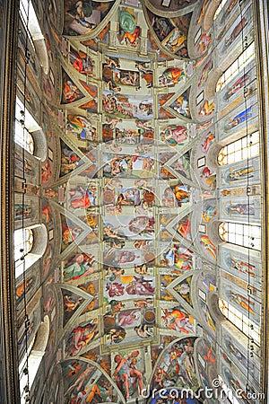 Michelangelo s masterpiece: Sistine Chapel Editorial Photo